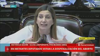Debate por aborto en Diputados: la emotiva exposición de Silvia Lospennato
