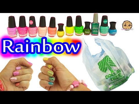 Dollar Tree Store Rainbow of Colors Nail Polish Haul + Swatch Video with Glitter
