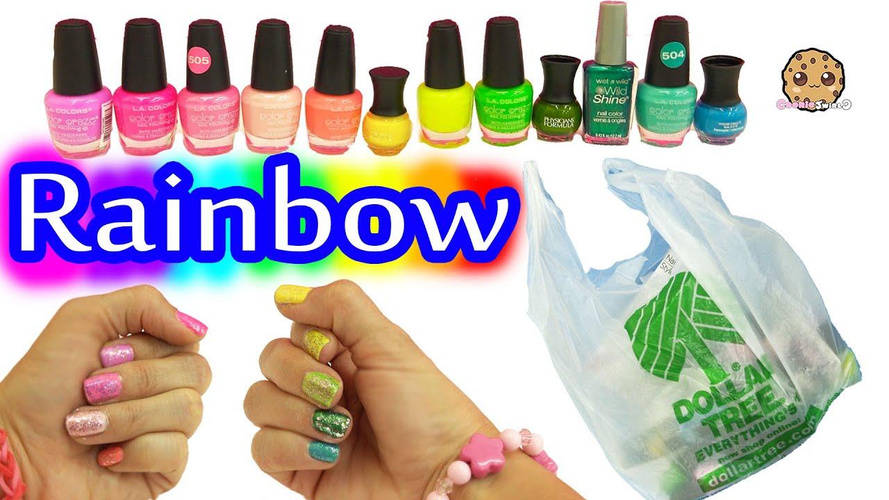 Dollar Tree Store Rainbow Of Colors Nail Polish Haul Swatch Video