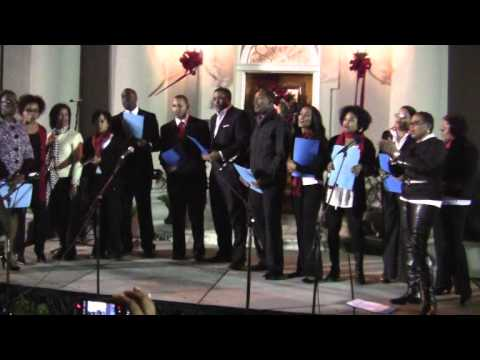 The Cabinet Office Choir At Premier's Tree Lighting Dec 3 2011