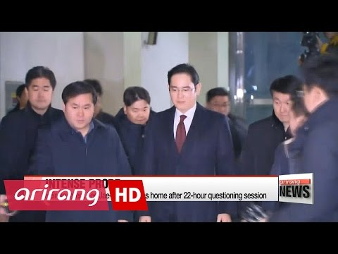 Samsung heir-apparent returns home after overnight questioning