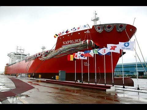 PH News : Philippines has launce One of the World's Biggest Vessels  Hanjin Shipyard Unveils