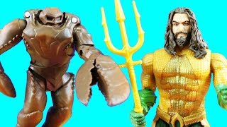 DC Multiverse Aquaman Toy Review With Brine King Orm And Mega Size Talking Aquaman ! Superhero Toys