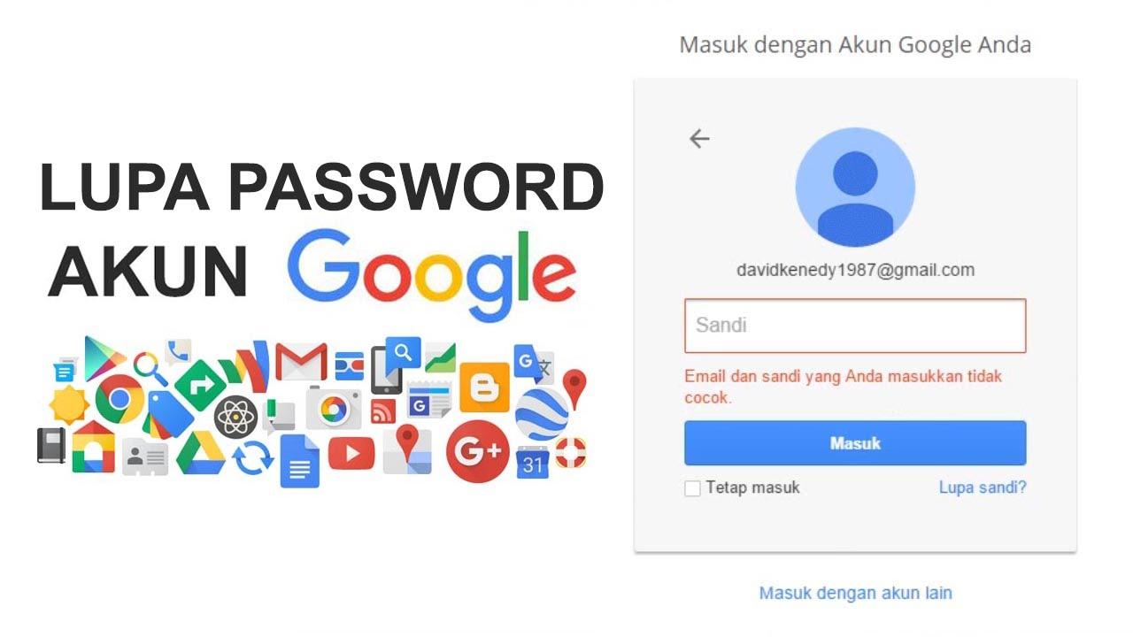 Lupa Password Akun Google Youtube