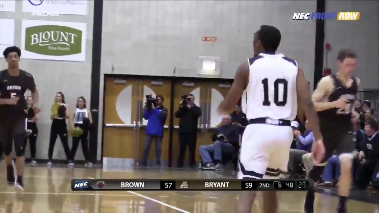 low priced 6eb94 b6ad6 Men's Basketball Highlights: Bryant vs. Brown 11-26-17 ...