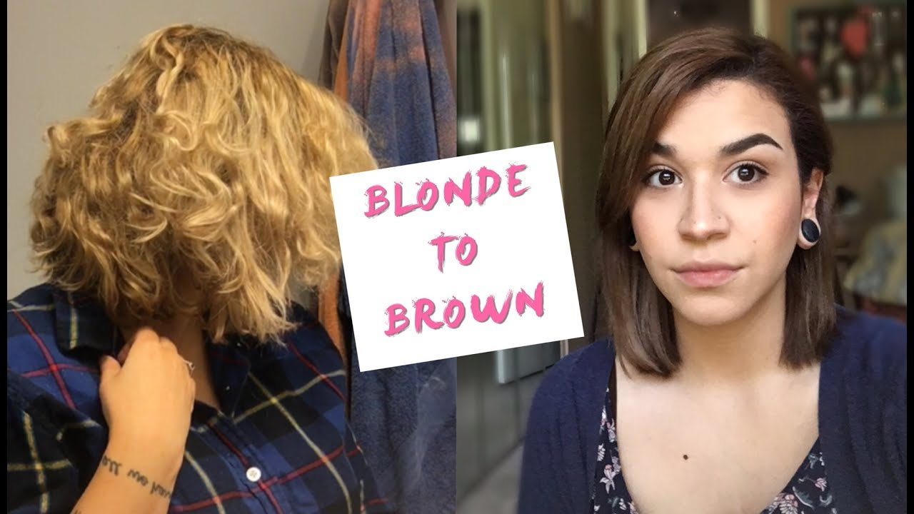 Blonde To Brown Hair How To Fill It Coloring My Hair Youtube