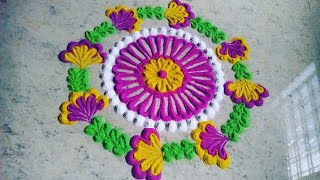 Easy and simple rangoli design for festival Akshay tritiya rangoli design
