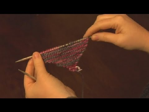 How To Knit A Diagonal Scarf Knitting A Scarf Youtube