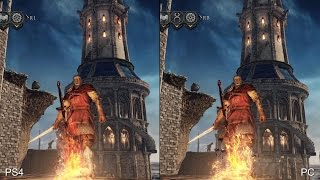 [60fps] Dark Souls 2 Scholar of the First Sin: PS4 vs PC Real-Time Comparison