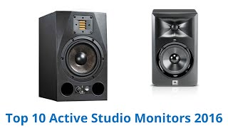 10 Best Active Studio Monitors 2016
