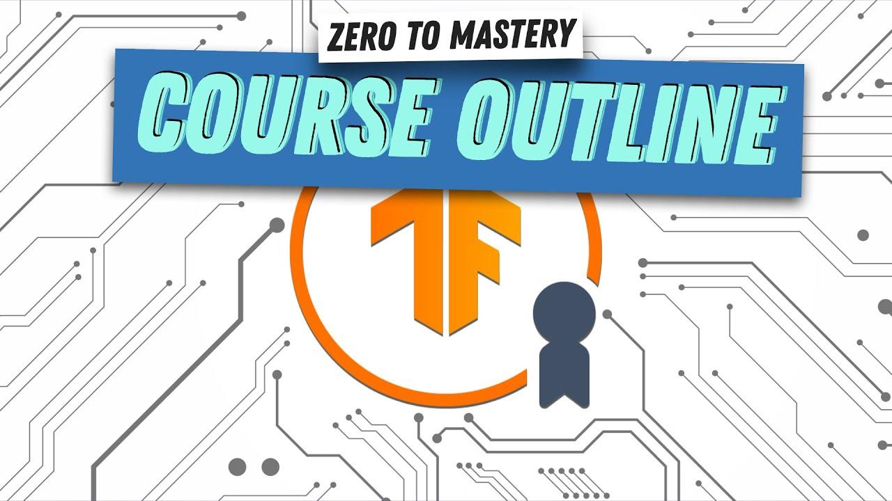 Course Outline for TensorFlow Developer Certificate in 2021: Zero to Mastery | TensorFlow Tutorial