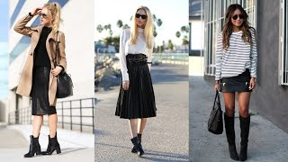 Download 22 Stylish Ways How to Wear Leather Skirts This Winter Mp3 and Videos