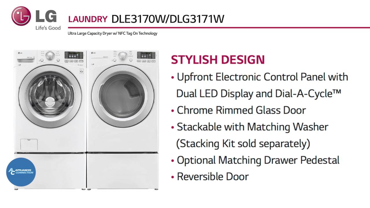 LG Electric Dryer With 8 Dry Cycles DLE3170W at www ...