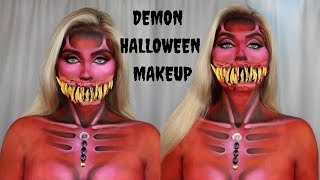 QUEEN DEMON Halloween Makeup Tutorial l Glamorous Massacre