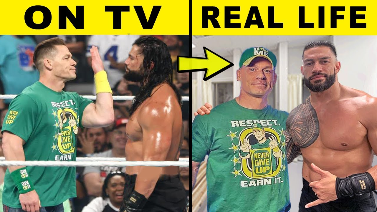 5 WWE Enemies Who Are Friends in Real Life 2021 - John Cena & Roman Reigns