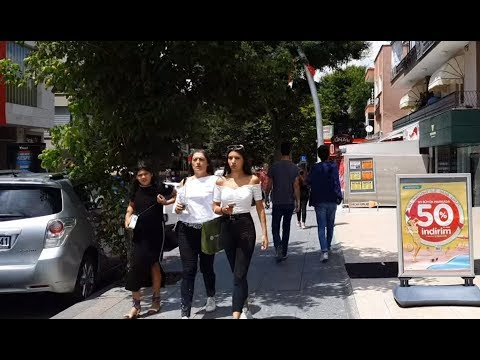 Ankara's famous street, 7th street, Turkey walking and delicious tour in 4K