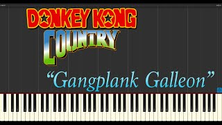 Donkey Kong Country - Gangplank Galleon (Piano Tutorial Synthe…