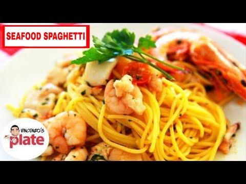 AWESOME SEAFOOD SPAGHETTI RECIPE | Italian Seafood Pasta | Spaghetti con Pesce