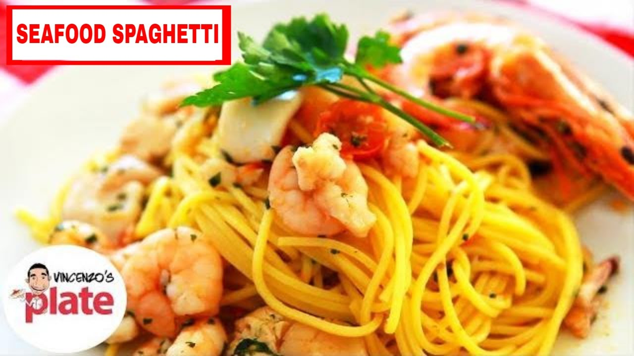 How to cook spaghetti with seafood