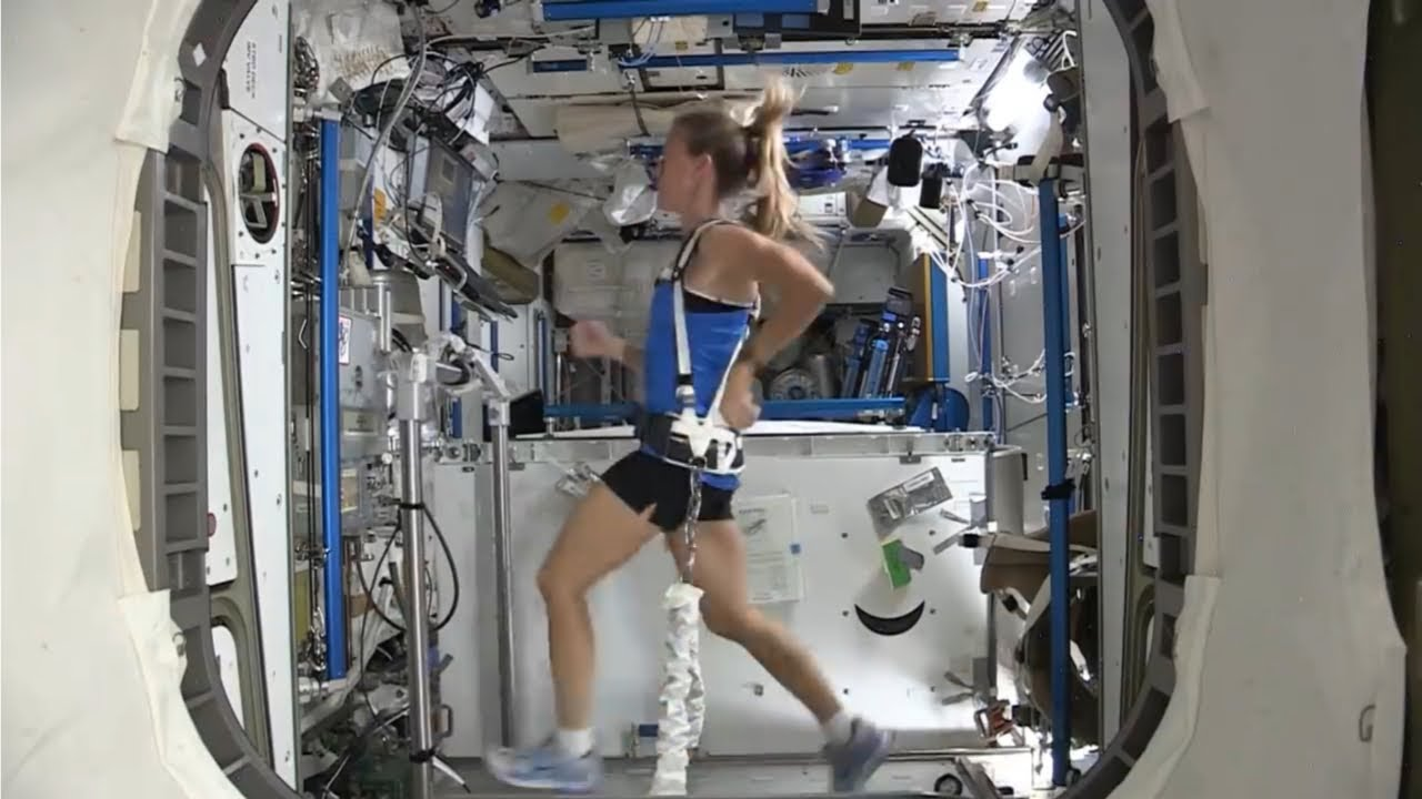 Running in Space HD video by NASA | NASA Space Videos | Gym in Space Station