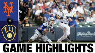 Mets vs. Brewers Game Highlights (9/26/21) | MLB Highlights
