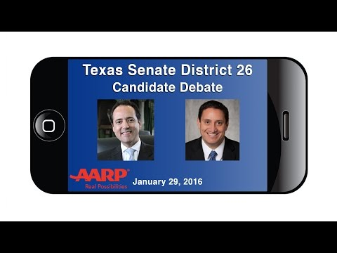 AARP Texas Senate District 26 Candidate Debate