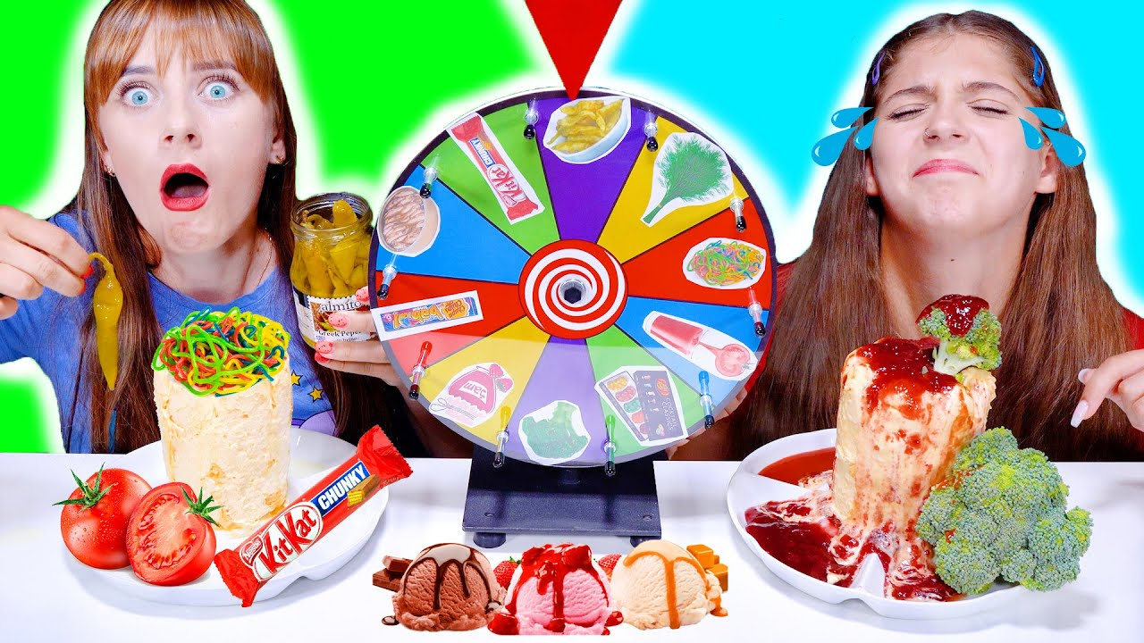 ASMR Mystery Wheel Of Ice Cream Challenge By LiLiBu