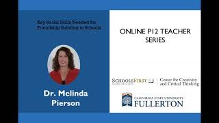 K12 Online Teaching Webinars: Key Social Skills Needed for Friendship Building in Schools