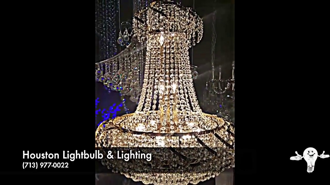 Houston lightbulb lighting crystal chandeliers youtube houston lightbulb lighting crystal chandeliers aloadofball Image collections