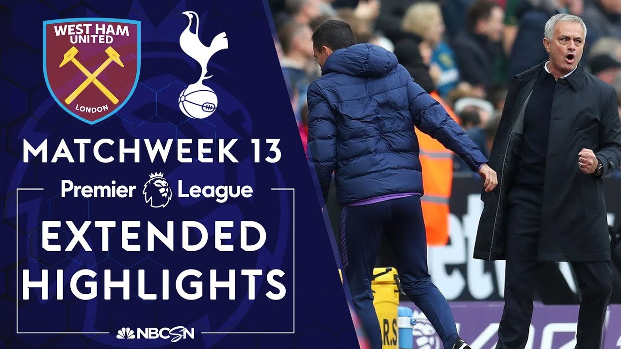 West Ham v. Tottenham | PREMIER LEAGUE HIGHLIGHTS | 11/23/19 | NBC Sports