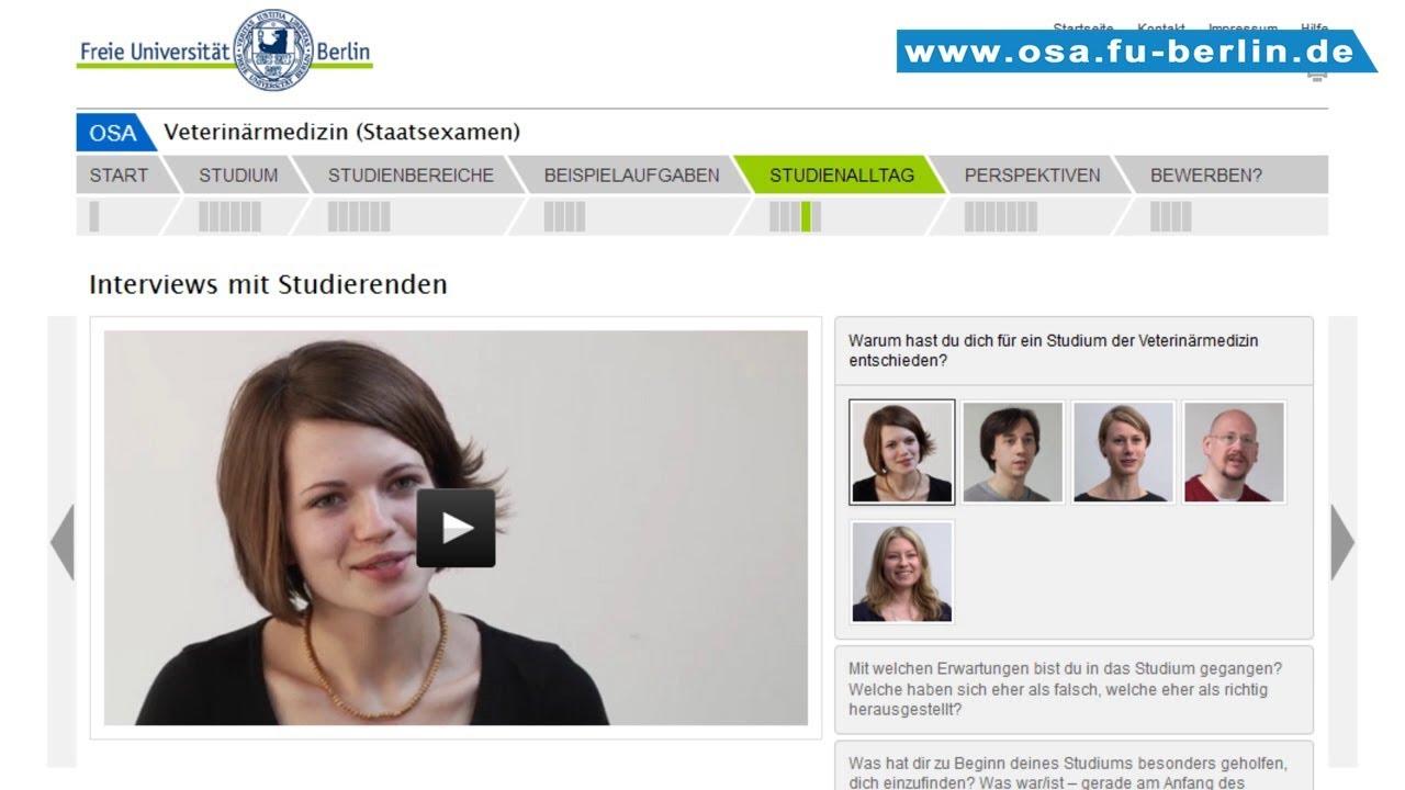 veterinrmedizin studieren an der freien universitt berlin - Fu Berlin Bewerbung