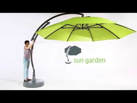 Sun Garden   Easy Sun Parasol Set Up U0026 Cover