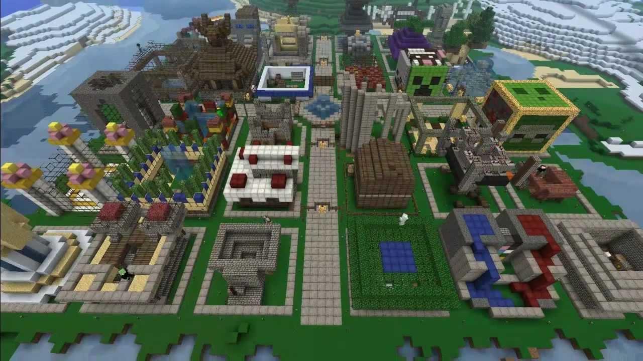 Costruzione di una citt in un server di minecraft youtube for Come pianificare la costruzione di una casa