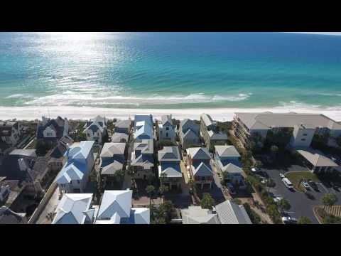 Aerial Views of 30A Water's Edge Casablanca Vacation Rental House with Private Pool