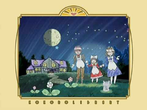The textless ending theme to Kokoro Library.