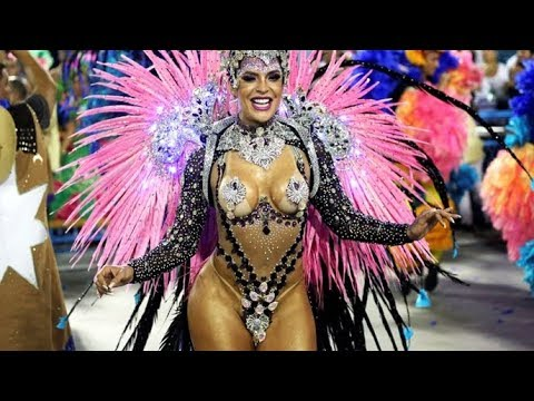 Rio Carnival 2019  - Floats & Dancers  Brazilian Carnival  The Samba Schools Parade