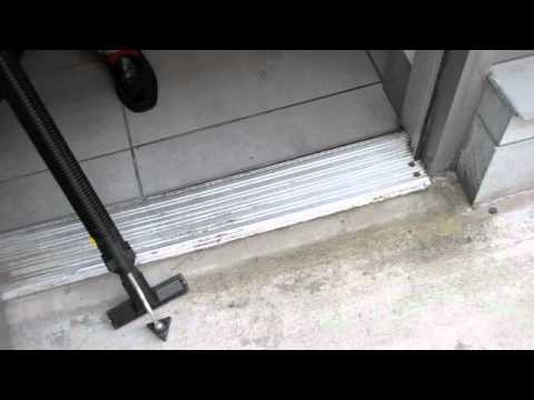 Steam Cleaning Metal Thresholds / Door Tracks with a Dupray Steam Cleaner & Steam Cleaning Metal Thresholds / Door Tracks with a Dupray Steam ...