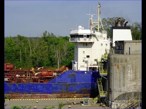 Tanker ship ROSY at Lock 4E, Welland Canal