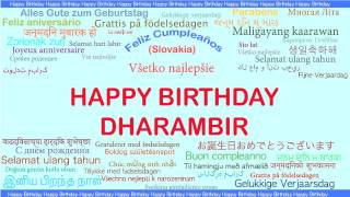 Dharambir   Languages Idiomas - Happy Birthday