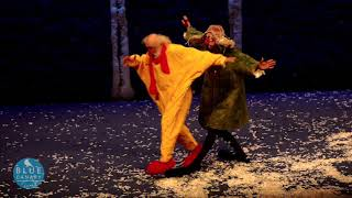 Father and son onstage in SNOWSHOW - Slava and the amazing shrinking Vanya!