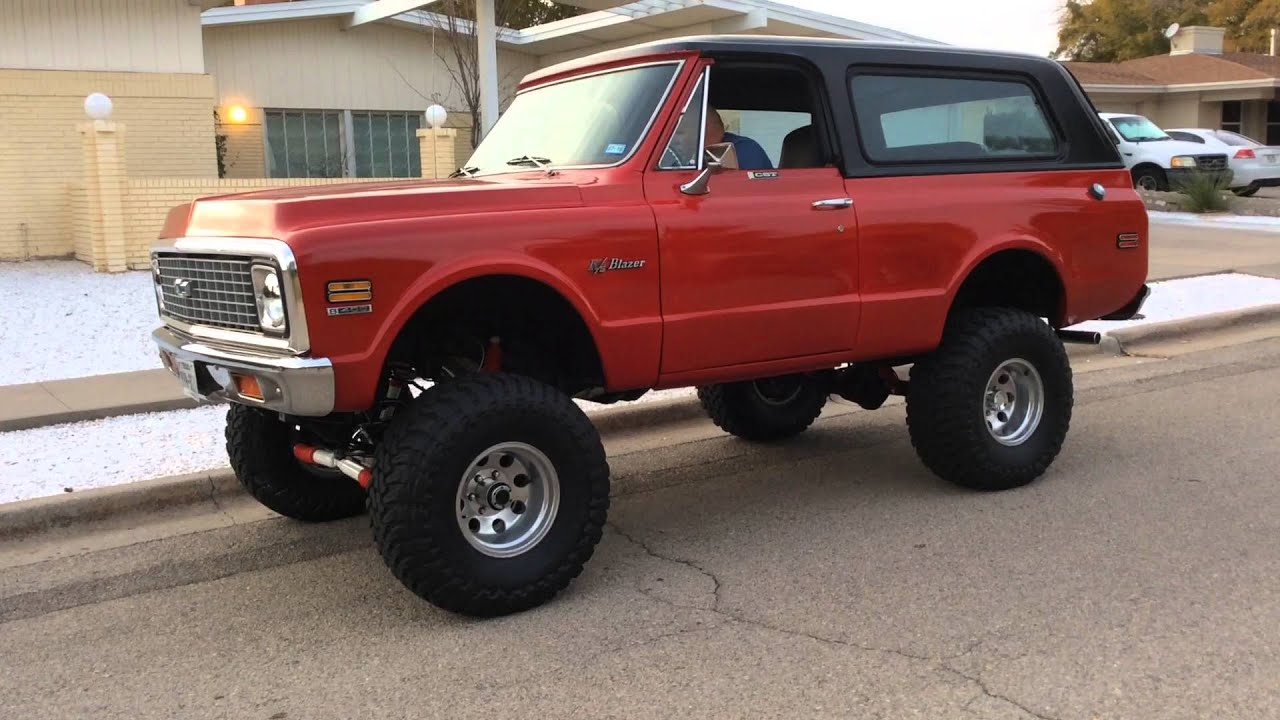 K5 Blazer For Sale >> BAD ASS RED 72 K5 CHEVY BLAZER SMALL VIDEO 1 - YouTube
