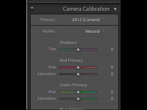 Creating Camera Calibration Custom Camera Profiles in Adobe Light Room