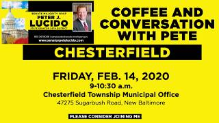 Sen. Lucido to host Coffee Hours on February 14