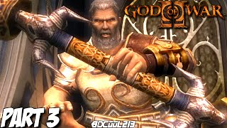GOD OF WAR 2 GAMEPLAY WALKTHROUGH PART 3 THESEUS BOSS FIGHT - PS3 LET'S PLAY