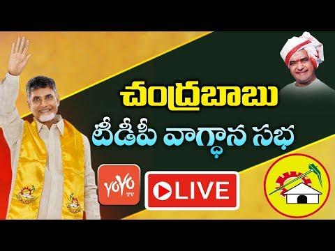Chandrababu Live | TDP Candidates Vagdhana Sabha | AP Elections 2019 | AP Politics | YOYO TV