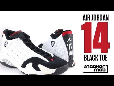 Air Jordan XIV 'Black Toe' Comparison