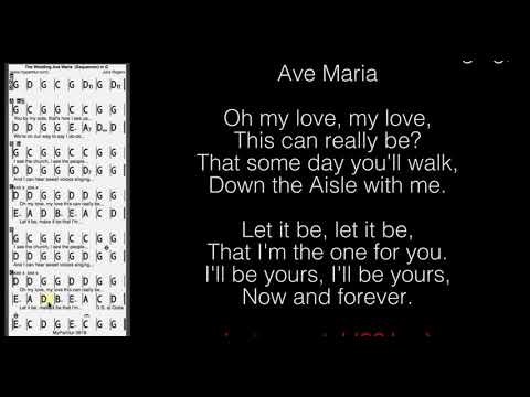 The Wedding (Ave Maria) Chords at MyPartitur Lyrics