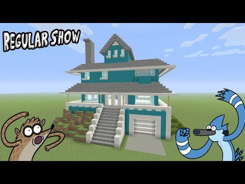 "Minecraft Tutorial: How To Make The Regular Show House ""Regular Show"""