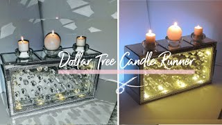 Diy Two - Sided Mirrored Crystal Centerpiece w/ Lights   Candle Runner   DIY Dollar Tree Home Decor