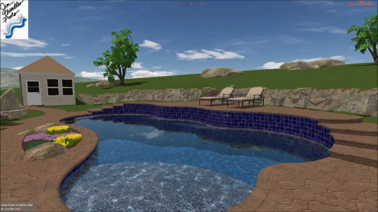 Sacramento swimming pool builder jim chandler pools plumbing electric steel youtube for Sacramento swimming pool builders